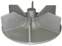 Elément de turbine en fonderie d' aluminium
