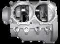 Carter en fonderie d'aluminium pour moteur « boxer » 5pour ULM.°